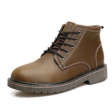 Herre sko PU Vår Høst Komfort Støvler Svart Brun