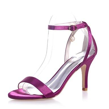 ouvert Printemps Satin Basique Femme Aiguille Sandales Escarpin Boucle Bout Perle 06416500 Eté Rouge Imitation Champagne Talon Chaussures qCEwx5vF