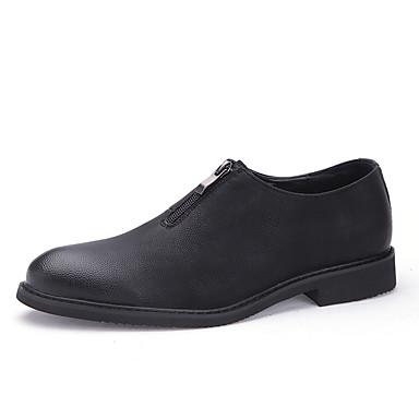 Męskie Komfortowe buty Oxford / Zamsz / Sztuczna skóra Wiosna / Lato Mokasyny i buty wsuwane Kozaczki / kozaki do kostki Czarny