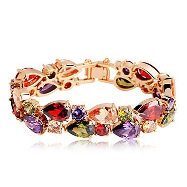 billige Motearmbånd-Dame Armbånd Dråpe damer Klassisk Bohemsk Bohem Zirkonium Armbånd Smykker Regnbue Til Engasjement Gave