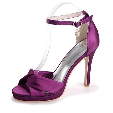 Eté Aiguille Bout Boucle Sandales Femme Invalide Invalide Printemps ouvert Rose Escarpin 06421709 Champagne Basique Satin Chaussures Talon qwTATtfH