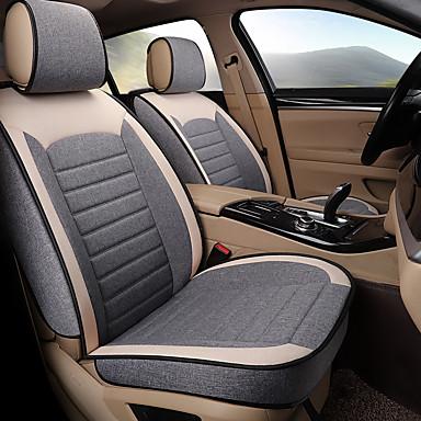 voordelige Auto-interieur accessoires-5 zitplaatsen vier seizoenen algemeen vlas autostoel volledige hoes voor vijf-stoel auto / airbag compatibiliteit / zoals familie auto, suv / grijs