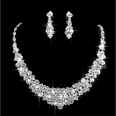 32da0e385a7 Women s Cubic Zirconia Jewelry Set Simple Include Silver For Wedding Party