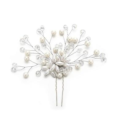 Kryształ / Imitacja pereł / Stop Szpilka do włosów z Kryształki / Faux Pearl 1szt Ślub / Specjalne okazje Winieta