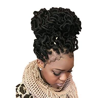 Kędzierzawy Afrykańskie warkocze Włosy syntetyczne 1pack Dreadlocks / Faux Locs dredy Włosy Warkocze Medium