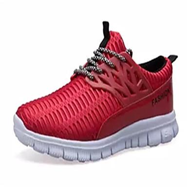 Homens sapatos Couro Ecológico Primavera Outono Conforto Mocassins e Slip-Ons Caminhada Pregueado para Casual Preto Cinzento Vermelho