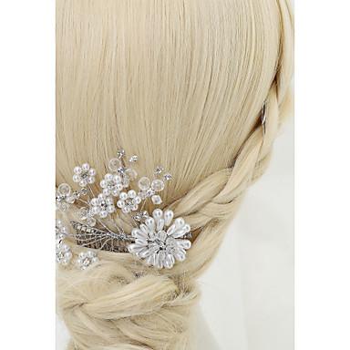 Kryształ Imitacja pereł Kryształ górski Stop Grzebienie do włosów 1szt Ślub Specjalne okazje Winieta