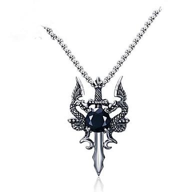 levne Dámské šperky-Pánské Kubický zirkon Náhrdelníky s přívěšky franko řetěz Růženec řetěz Drak Zvíře Nerez Stříbrná Náhrdelníky Šperky 1 Pro Dar Denní