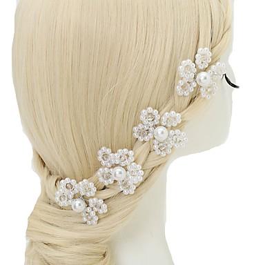 Kryształ Imitacja pereł Stop Szpilka do włosów 4szt Ślub Specjalne okazje Winieta