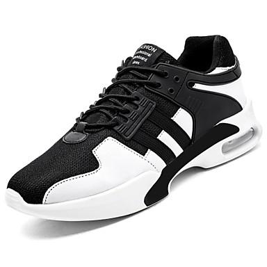 Męskie Buty PU Jesień Comfort Buty do lekkiej atletyki Koszykówa na Atletyczny Casual White Black Black/White