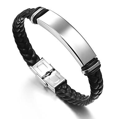 voordelige Herensieraden-Heren Schakelarmband Knoop Aziatisch Vintage Henneptouw Armband sieraden Zilver Voor Dagelijks Formeel / Roestvast staal