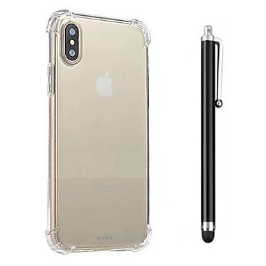 Hülle Für Apple iPhone X iPhone 8 iPhone 8 Plus Stoßresistent Transparent Rückseite Volltonfarbe Weich TPU für iPhone X iPhone 8 Plus