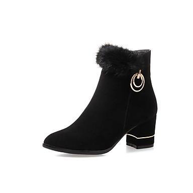 Nubuck Talon Bout Gris 06439243 Confort Botte Femme Bottine Bottier Chaussures Noir Cuir Hiver Rouge Printemps pointu Demi Bottes 0xEZTS