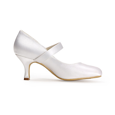 3debf3932aa1 Women s Silk Spring   Summer Basic Pump Wedding Shoes Stiletto Heel Closed  Toe Satin Flower White   Party   Evening 6450993 2019 –  39.99