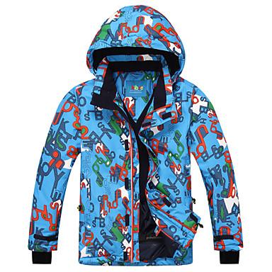Phibee Jungen Skijacke Warm, Schnelles Trocknung, Wasserdicht Skifahren Polyster, Terylen Jacke Skikleidung