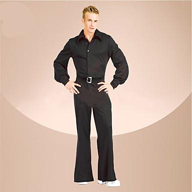 Outfits Dyskoteka Retro Kostium Męskie Kostium Stroje Black Postarzane Cosplay Poliester Długi rękaw Pompiasty/Balonowy Majtki