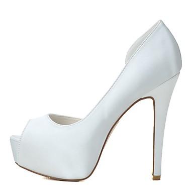 Rose Escarpin Talon Satin ouvert Aiguille Chaussures Basique Printemps Chaussures Bout Blanc Mariage de Eté Femme 06439894 mariage w6BTIW