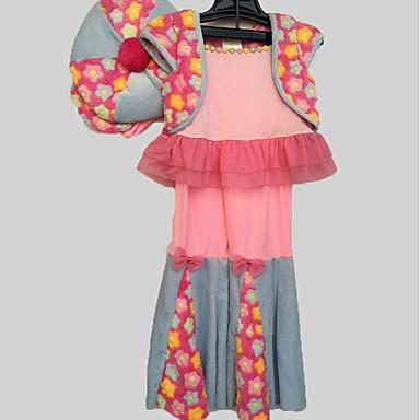 Outfits Hipisowskie Kostium Dla dzieci Kostium imprezowy Purple Różowy Fuschia Postarzane Cosplay Poly / Cotton Długi rękaw Dzwon Majtki