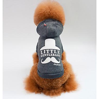 Pies Bluzy z kapturem Ubrania dla psów Nadruk Gray / Czerwony Bawełna Kostium Dla zwierząt domowych Męskie / Damskie Codzienne
