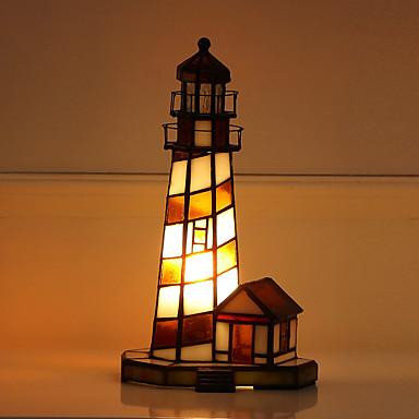 billige Lamper og lampeskjermer-Tiffany Mini Stil Bordlampe Til Glass 110-120V / 220-240V