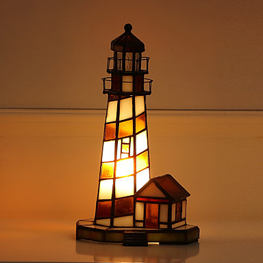 halpa Lamput ja varjostimet-Tiffany Minityyli Pöytälamppu Käyttötarkoitus Lasi 110-120V / 220-240V