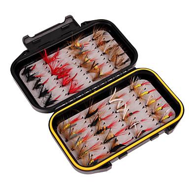 abordables Accessoires de pêche-leurres de pêche Matériel de Pêche à la Mouche 40 pcs Pêche Léger et pratique Plumes Acier de charbon Pêche à la mouche Pêche aux spinnerbaits Pêche de la carpe