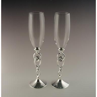 billige Sjampagneglass-Glass Sinklegering Riste Fløyter Gaveeske Abstrakt Bryllup Alle årstider