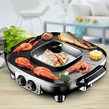 גריל ברביקיו חשמלי רב שימושי פלדת אלחלד יפנית תרמי Cookers 220 V מכשיר מטבח