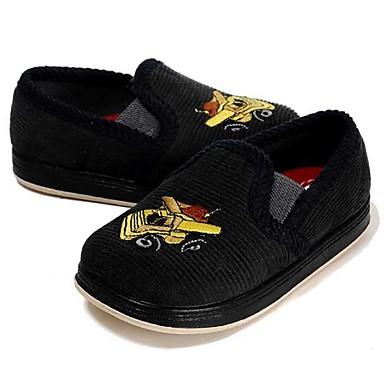בנים נעליים בד אביב / סתיו נוחות / צעדים ראשונים שטוחות סרט גומי ל אפור כהה