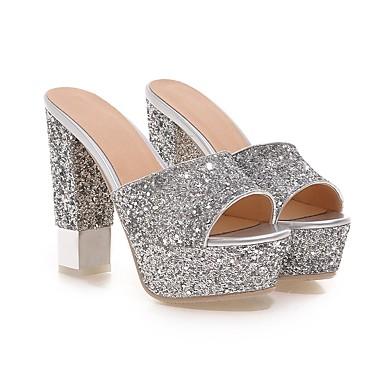 Blanc Chaussures Femme 06501169 Escarpin Paillette Paillettes Confort Argent Noir Sandales Automne Bottier Eté Talon ouvert Bout Basique OqwdBAqn