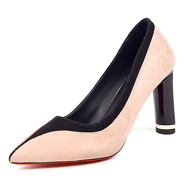 בגדי ריקוד נשים נעליים PU אביב / סתיו נוחות עקבים עקב עבה בז' / אדום / ירוק