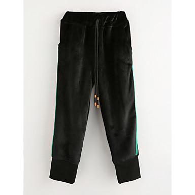 מכנסיים חורף אחיד בנות שחור