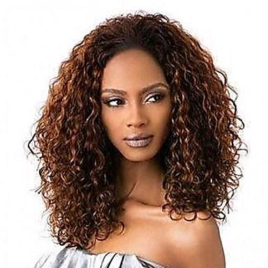 שיער אנושי חזית תחרה Wig שיער ברזיאלי Kinky Curly פאה 130% בגדי ריקוד נשים פיאות תחרה משיער אנושי / קינקי קרלי