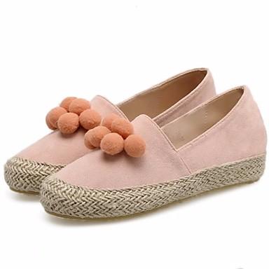 בגדי ריקוד נשים עור נובוק אביב / סתיו נוחות נעליים ללא שרוכים מטפסים ורוד