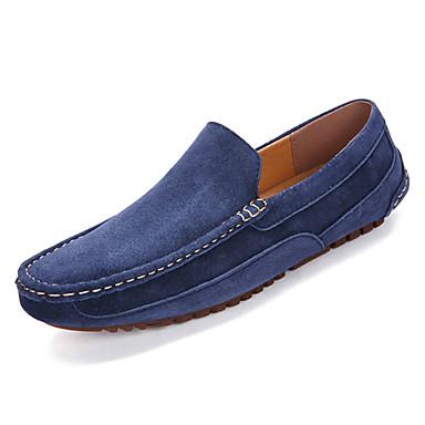 בגדי ריקוד גברים PU אביב / סתיו נוחות נעליים ללא שרוכים חום / כחול / חאקי