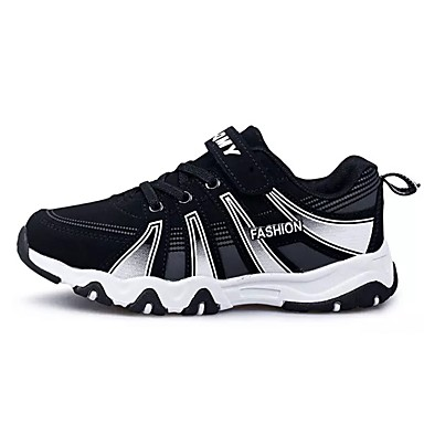 בגדי ריקוד גברים גומי אביב / סתיו נוחות נעלי אתלטיקה קולור בלוק שחור לבן / שחור אדום / שחור / כחול