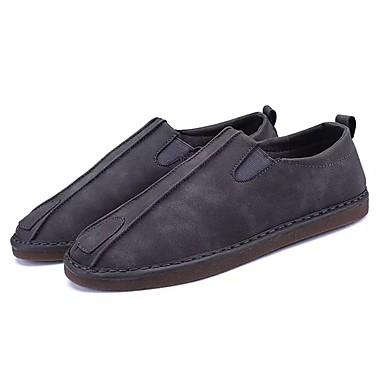 בגדי ריקוד גברים עור נובוק / סוויד סתיו נוחות נעליים ללא שרוכים אפור / חום