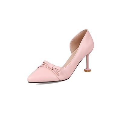 Amande Chaussures Confort pointu Printemps Similicuir Bout Noir 06506163 Eté Talons Aiguille Rose Chaussures à Talon Habillé fqRUOW