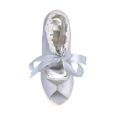 06474745 Argent Elastique Chaussures Escarpin Perle Eté ouvert Basique Bout Aiguille Printemps Satin mariage Chaussures Mariage Femme de Talon ZEqwxF0T6