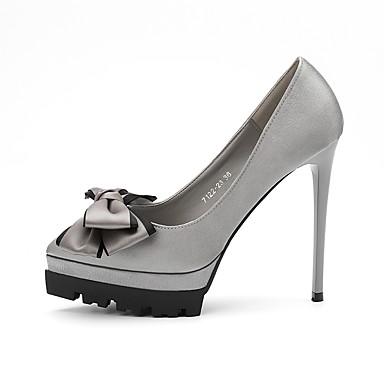 Mujer Zapatos Goma Primavera Confort Tacones Tacón Stiletto Dedo Puntiagudo Negro / Beige / Gris 1ZDWnr8B