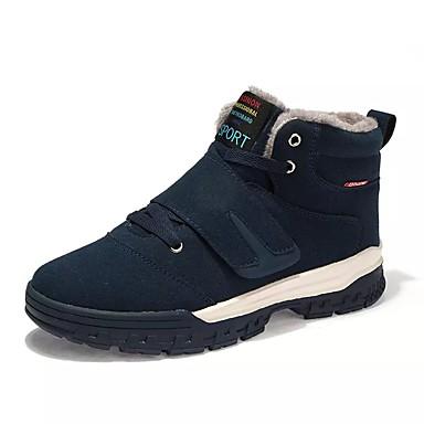 Homens sapatos Couro Ecológico Primavera / Outono Conforto Botas Caminhada Chocolate / Preto / Azul