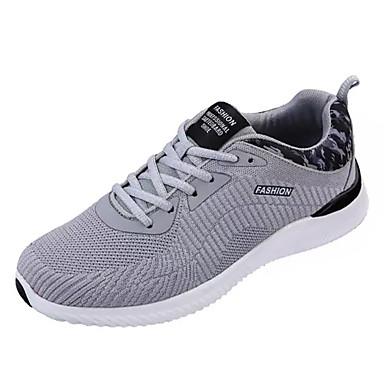 בגדי ריקוד גברים נעליים טול אביב / סתיו נוחות נעלי אתלטיקה כחול כהה / אפור / שחור לבן