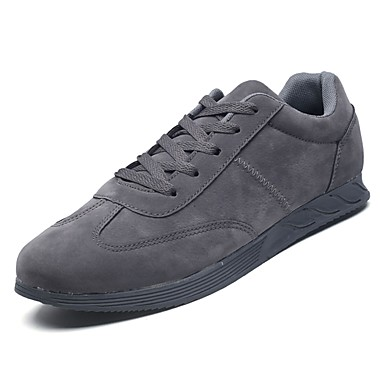נעליים PU אביב סתיו נוחות נעלי אתלטיקה ל אתלטי לבן שחור אפור