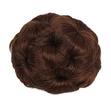 voordelige Haar Stukken-Chignons Knot updo Trekkoord Synthetisch haar Haar stuk Haarextensies Strawberry Blonde / Medium Auburn / Zwart / Donkerbruin / Medium Auburn