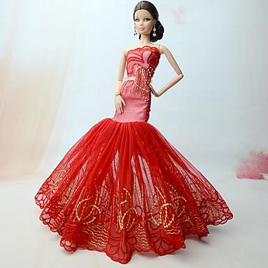 プリンセスライン ドレス ために バービー人形 ドレス ために 女の子の 人形玩具