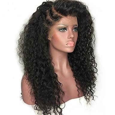 XCSUNNY שיער אנושי חלק קדמי תחרה ללא דבק חזית תחרה פאה שיער הודי מתולתל Jerry curl פאה עם שיער תינוקות 150% צפיפות שיער שיער טבעי בתולה100% לא מעובד בגדי ריקוד נשים בינוני ארוך פיאות תחרה משיער אנושי