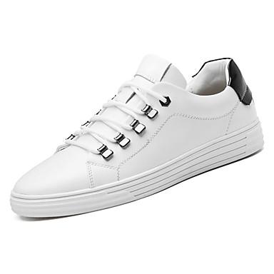 בגדי ריקוד גברים PU אביב / סתיו נוחות נעלי אתלטיקה לבן / שחור