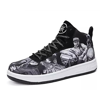 בגדי ריקוד גברים PU סתיו / חורף נוחות נעלי ספורט קולור בלוק שחור / אדום