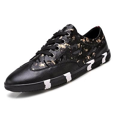 בגדי ריקוד גברים גומי אביב / סתיו נוחות נעלי ספורט שחור וזהב / שחור לבן / שחור אדום