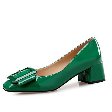 Talon carré Vert Noir Chaussures Chair Automne Chaussures Polyuréthane 06506135 Talons Bottier Printemps Confort à Bout 7vwTxq0